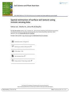 Spatial estimation of surface soil texture using remote sensing data