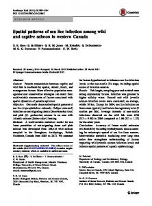 Spatial patterns of sea lice infection among wild and captive salmon in western Canada