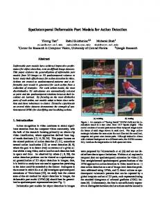 Spatiotemporal Deformable Part Models for Action Detection
