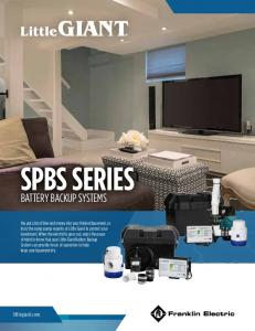 SPBS SERIES BATTERY BACKUP SYSTEMS. littlegiant.com