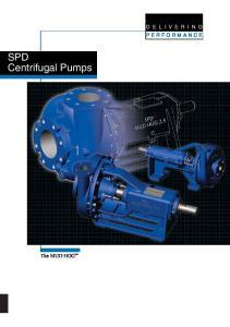 SPD Centrifugal Pumps