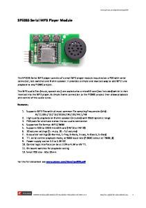 SPE035 Serial MP3 Player Module