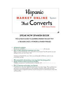 SPEAK NOW SPANISH BOOK
