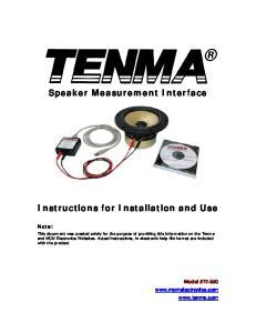 Speaker Measurement Interface