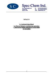 Spec-Chem Ind. Arbutin