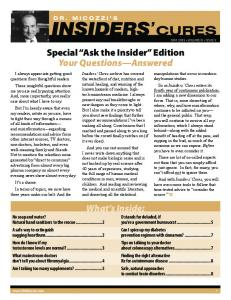 Special Ask the Insider Edition Your Questions Answered
