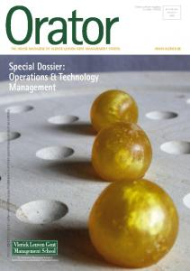 Special Dossier: Operations & Technology Management