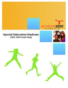 Special Education Students Lexile Study