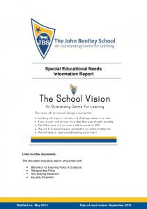 Special Educational Needs Information Report