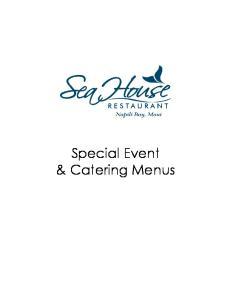 Special Event & Catering Menus