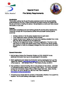 Special Event Fire Safety Requirements