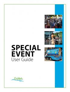 SPECIAL EVENT. User Guide