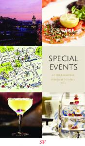 SPECIAL EVENTS AT THE BALMORAL