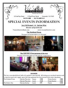 SPECIAL EVENTS INFORMATION