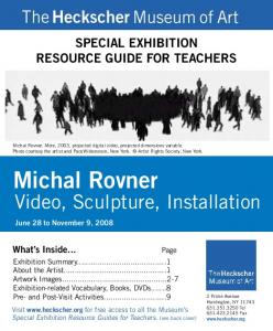 SPECIAL EXHIBITION RESOURCE GUIDE FOR TEACHERS