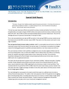 Special Gold Report