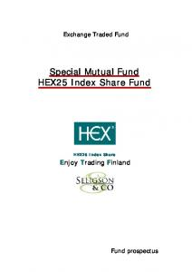 Special Mutual Fund HEX25 Index Share Fund