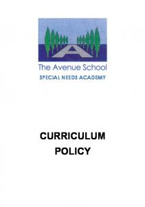 SPECIAL NEEDS ACADEMY CURRICULUM POLICY