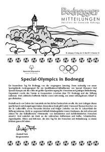 Special Olympics in Bodnegg