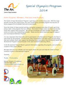 Special Olympics Program 2014
