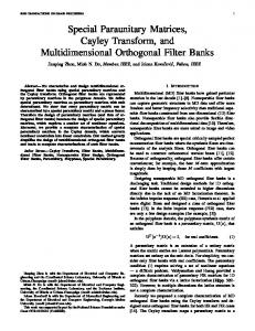 Special Paraunitary Matrices, Cayley Transform, and Multidimensional Orthogonal Filter Banks