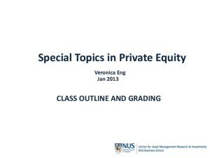 Special Topics in Private Equity