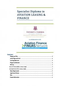 Specialist Diploma in AVIATION LEASING & FINANCE