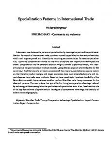 Specialization Patterns in International Trade