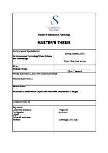 Specialization: Spring semester, 2012