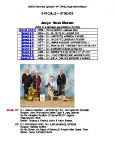 SPECIALS -- BITCHES. Judge: Helen Gleason