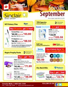 Specials September Prices expire September 30, 2016