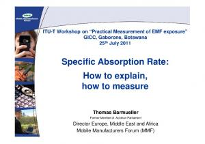 Specific Absorption Rate: How to explain, how to measure