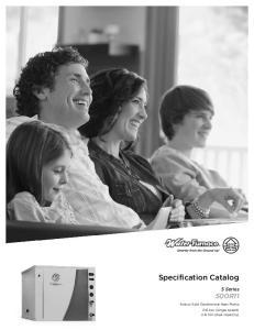 Specification Catalog. 5 Series 500R11. Indoor Split Geothermal Heat Pump 2-6 ton (single speed) 2-6 ton (dual capacity)