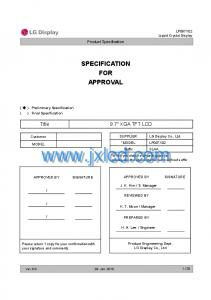 SPECIFICATION FOR APPROVAL 9.7