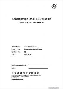 Specification for JT LED Module