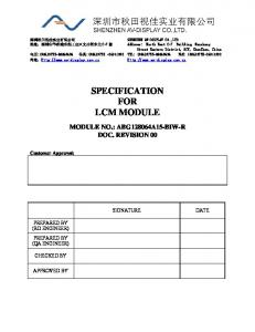 SPECIFICATION FOR LCM MODULE
