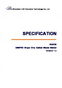 SPECIFICATION MX8732 VERSION 1.0