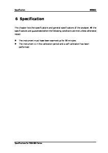 Specification RIGOL. 6 Specification