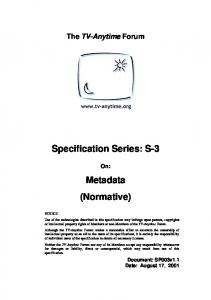 Specification Series: S-3
