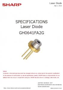SPECIFICATIONS. Laser Diode GH0641FA2G