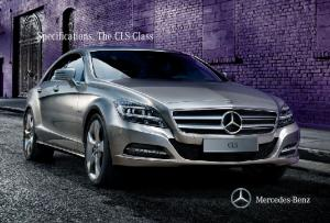 Specifications. The CLS-Class
