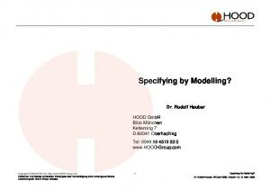 Specifying by Modelling?