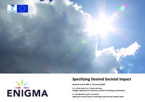 Specifying Desired Societal Impact