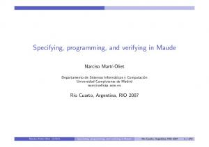 Specifying, programming, and verifying in Maude