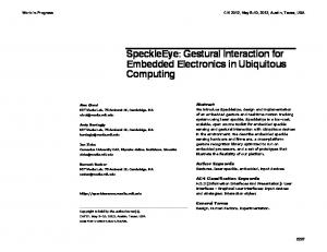 SpeckleEye: Gestural Interaction for Embedded Electronics in Ubiquitous Computing