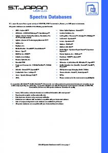 Spectra Databases. USA All Spectra Databases vers8.0.docx, page 1