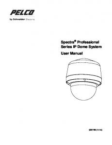 Spectra Professional Series IP Dome System User Manual
