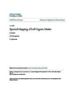 Spectral Mapping of Soil Organic Matter