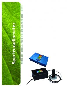 Spectroradiometer. PS-100 ( nm), PS-200 ( nm), PS-300 ( nm)