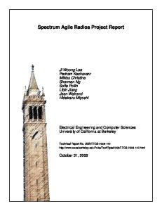 Spectrum Agile Radios Project Report